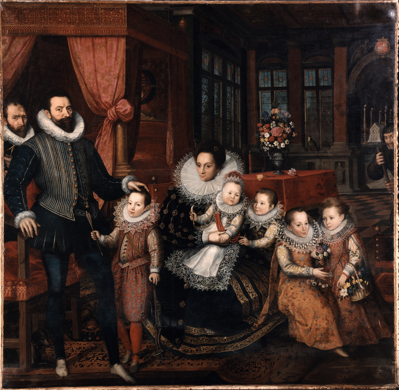 Charles_d'Arenberg_and_Anne_de_Croy_with_family_by_F.Pourbus_Jr._(c.1593,_Arenbergkasteel)