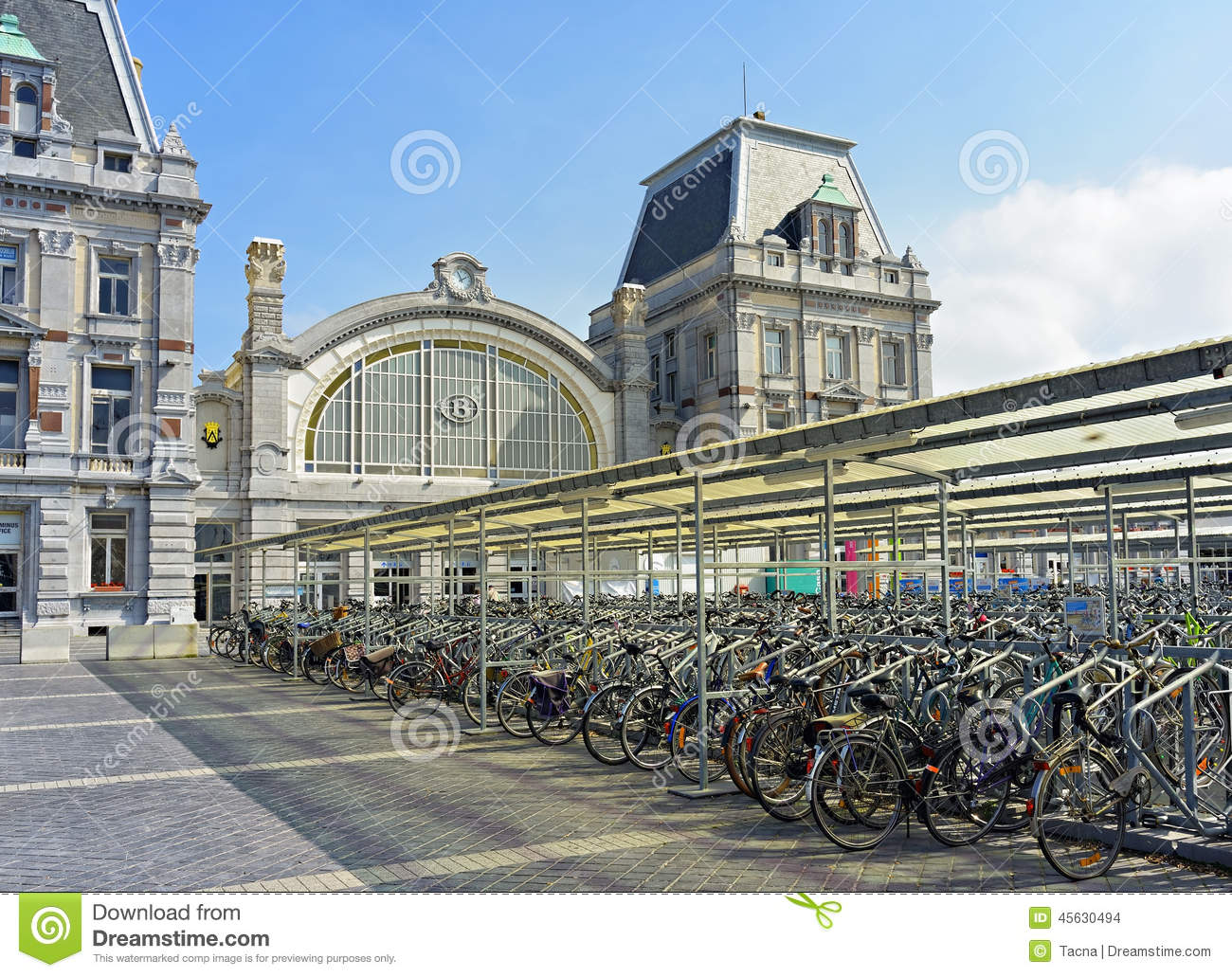 bicycles-front-central-railway-station-ostend-belgium-september-was-built-currently-under-45630494
