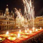Новогодняя вечеринка в центре Брюсселя