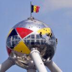 Специальное освещение в Брюсселе по случаю Национального дня