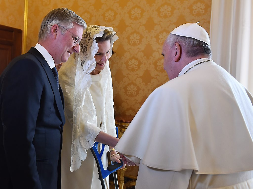 VATICAN-POPE-AUDIENCE-BELGIUM