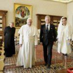 Папа Франциск встретился с королем и королевой Бельгии