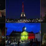 Мировые достопримечательности засветились бельгийским триколором