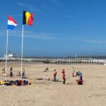В выходные дни на побережье Бельгии собралось около 150 000 человек
