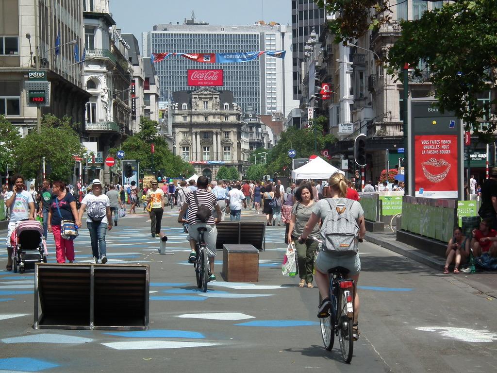 Pedestrian-area-Brussels