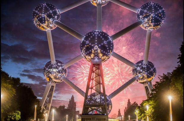 Atomium, fireworks